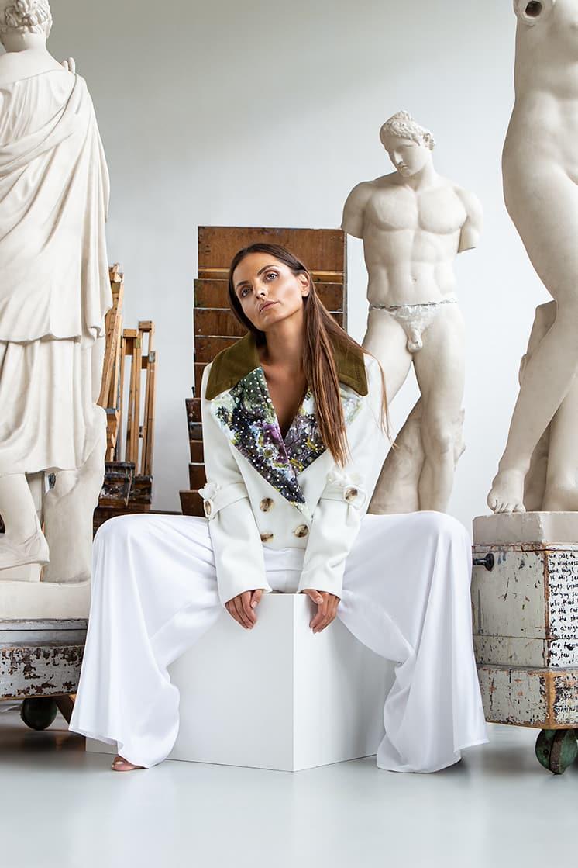 VALDONE Au Front of white wool women's coat HERA